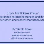 Title slide of the presentation Trotz Fleiß kein Preis