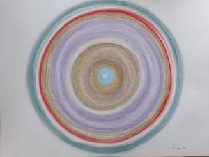 Image of concentric circles in different colours.