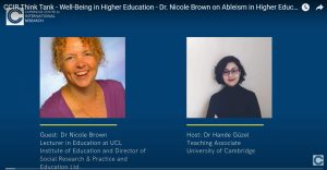 Cover slide of YouTube talk showing Dr Brown and Dr Güzel