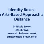 Screenshot of opening slide showing presentation title and contact details for Nicole Brown